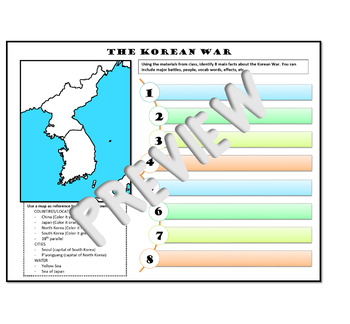 The Korean War and the Vietnam War: Guided Notes/Map Activity