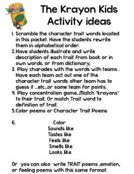 The Krayon Kids Activity Packet