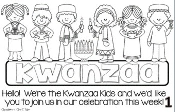 The Kwanzaa Kids ~ An Informational Interactive Reader and Craftivity