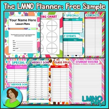 The LMNO Planner:  Teacher Planner {Free Samples}