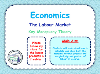 The Labour Market - Monopsony / Monopsonies Key Theory - E