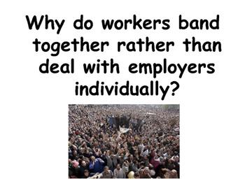 The Labour Market - Trade Unions - Economics / Microeconomics