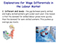 The Labour Market - Wage Differences / Differentials - Why