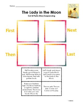 The Lady in the Moon - Story Sequencing