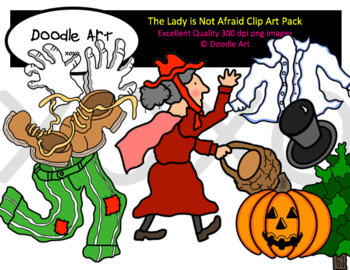 The Lady is Not Afraid Clipart Pack