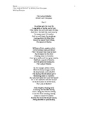 The Lady of Shallot poem, and writing prompts.