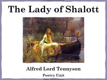 The Lady of Shalott Teaching Resources