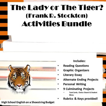 The Lady, or The Tiger? Activities Bundle (Frank Stockton)- Word