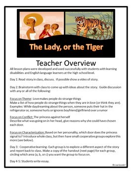 the lady or the tiger 5 paragraph