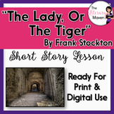 The Lady or The Tiger by Frank Stockton with Adapted Text & Simulation