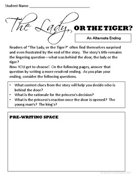 the lady or the tiger ending essay