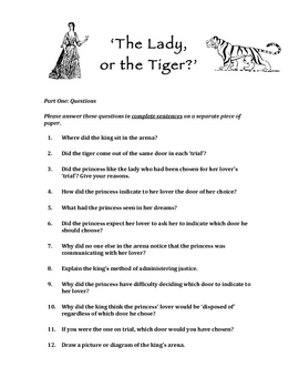 The Lady or the Tiger Questions