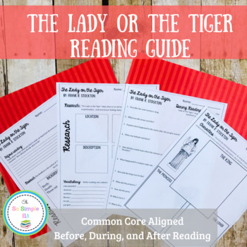 The Lady or the Tiger Reading Guide and Quiz