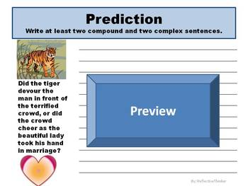 The Lady or the Tiger:  Reading, Writing, Language, and SS Activities