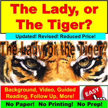 The Lady, or the Tiger Short Story PowerPoint Bundle