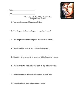 The Lady, or the Tiger Study Guide