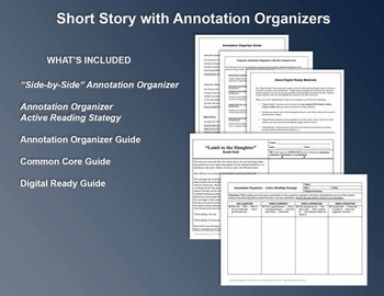"""""""Lady, or the Tiger"""" by Frank Stockton: Annotation Organizer"""