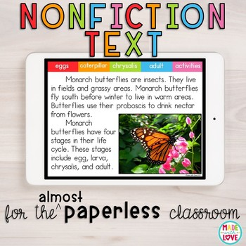 The Butterfly Life Cycle for the (Almost) Paperless Classroom