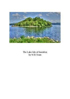 The Lake Isle of Innisfree by W.B. Yeats - Student Activit