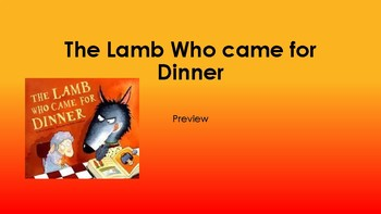 The Lamb Who Came for Dinner Literacy Activities