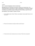 The Lanahan Readings Jigsaw: Unit One Federalist Papers