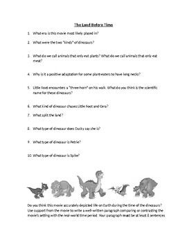 The Land Before Time Movie Questions