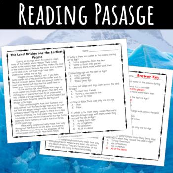 The Land Bridge Reading Comprehension Passage