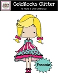 The Land of Glitter Goldilocks Glitter Clip Art {FREEBIE}