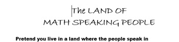 The Land of Math Speaking People