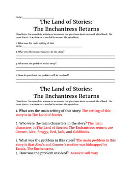 The Land of Stories #2- The Enchantress Returns