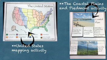 The Land of the United States Interactive Notebook