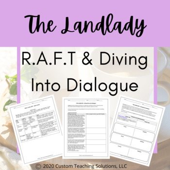 The Landlady - Close Reading/Diving into Dialogue