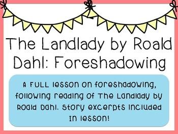 The Landlady (Short Story) - Foreshadowing
