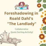 The Landlady Roald Dahl foreshadowing activity and reflect