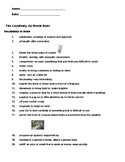 The Landlady Vocabulary List and Review