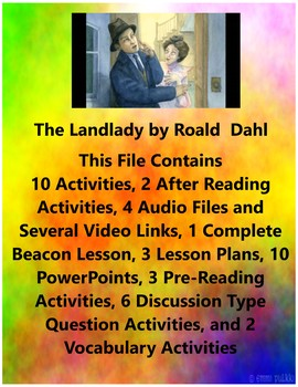 The Landlady by Roald Dahl Teacher Supplemental Resources Fun Engaging