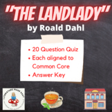 The Landlady by Roald Dahl Common Core Test Assessment