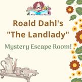 The Landlady by Roald Dahl Mystery ESCAPE BREAKOUT PUZZLE Room!