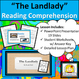 The Landlady by Roald Dahl Reading Comprehension with Text