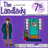 The Landlady by Roald Dahl Short Story Unit for Middle School