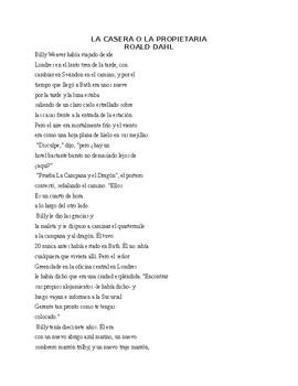 The Landlady by Roald Dahl translated in Spanish