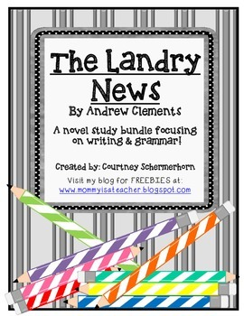 The Landry News Activities-Grammar, Writing News Articles, Assessments, & more!
