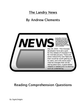 The Landry News Comprehension Questions and Book Test