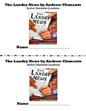 The Landry News by Andrew Clements Anchor Standards Questions