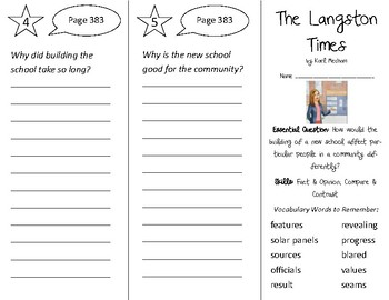 The Langston Times Trifold - Open Court 2nd Grade Unit 3 Lesson 4