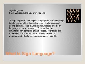 The Language Of Signing