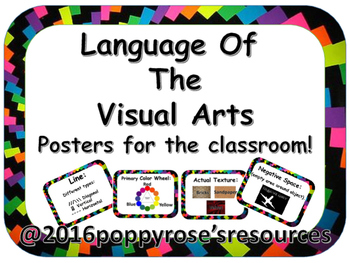 The Language of Visual Arts : Posters For The Classroom