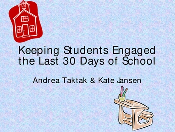 The Last 30 Days of School Ppt