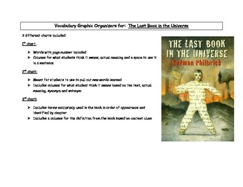 The Last Book in the Universe Vocabulary Graphic Organizers