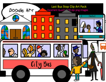 The Last Bus Stop Clipart Pack